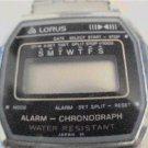 OLD LORUS ALARM CHRONOGRAPH LCD WATCH RUNS