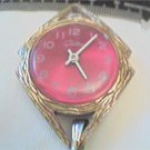 UNUSUAL RED DIAL CHATEAU LADIES PENDANT WATCH RUNS