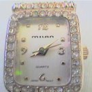 NEW MILAN STONED CASE LADIES QUARTZ WATCH RUNS