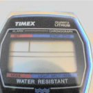 OLD TIMEX ALARM CHRONOGRAPH LCD WATCH RUNS