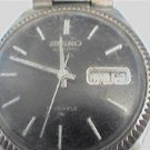 BLACK DIAL SEIKO DAY DATE 17J AUTO WATCH RUNS 4U2FIX BA