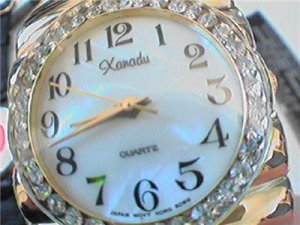 HUGE STONE BEZEL XANADU LADIES BRACELET WATCH RUNS