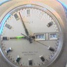 BIG SQUARE TIMEX DAYDATE AUTOMATIC WATCH RUNS