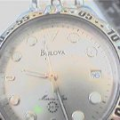 T5 BULOVA MARINE STAR 100FT QUARTZ DATE WATCH RUNS
