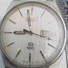 OLD 2J SEIKO 100 QUARTZ TEXTURED DIAL WATCH runs 4u2FIX