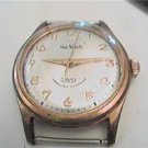 VINTAGE van woods 17 jewel incabloc watch runs