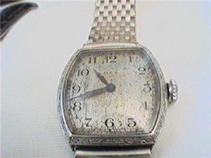 RARE ART DECO 14KT WHITE GOLD LADIES WATCH 4U2FIX