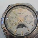 UNUSUAL XONIX 100M MOONPHASE DOUBLE DATE QUARTZ WATCH