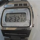 VINTAGE SEIKO ALARM DATE LCD CHRONOGRAPH WATCH RUNS