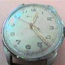 vintage rare red second hand bulova watch runs