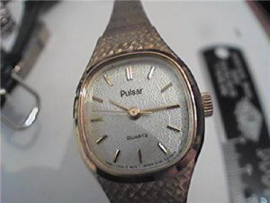 RARE UNUSUAL TEXTURED DIAL LADIES PULSAR QUARTZ WATCH