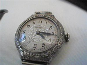 VINTAGE OLYMPIC SOLETTA DECO LADIES WATCH RUNS FIX