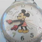 VINTAGE HELBROS MICKEY MOUSE WINDUP WATCH RUNS