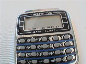 DELPHI VIII ALARM QUARTZ CALCULATOR WATCH 4U2FIX