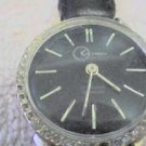 RARE STONE BEZEL KALTRON 17 JEWEL LADIES WATCH RUNS