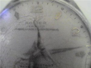 VINTAGE RODIER SECONDS DIAL WATCH 4U2FIX GLASS RUN STOP