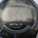 ARMITRON ALARM CHRONO LCD WATCH RUNS
