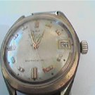 VINTAGE 17J RED TIP SECOND HAND WALTHAM DATE WATCH RUNS