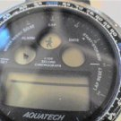 UNUSUAL AQUATECH LCD CHRONO WATCH RUNS
