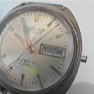 VINTAGE GALAXIE ELGIN AUTO DAY DATE WATCH RUNS 4U2FIX