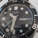 VINTAGE CITIZEN 200M DAY DATE QUARTZ DIVER WATCH 4U2FIX
