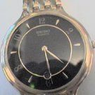 RARE VINTAGE BLACK DIAL SEIKO DATE AT 6 WATCH RUNS