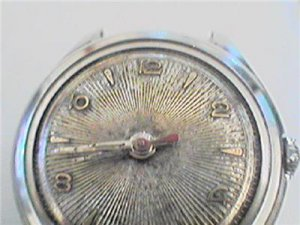 UNUSUAL SUNBURST DIAL BURMAN 25J AUTO WATCH RUNS 4U2FIX