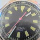 BLACK YELLOW DIAL SWATCH WATCH 4U2FIX RUNS