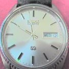 RARE VINTAGE MAN SEIKO DAY DATE QUARTZ WATCH RUNS 4FIX