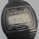 VINTAGE SEMI THIN LORUS LITHIUM JAPAN LCD WATCH RUNS