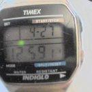 VINTAGE TIMEX INDIGLO LCD CHRONO WATCH RUNS
