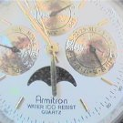 RARE ARMITRON TRIPLE DATE MOON QUARTZ WATCH 4U2FIX