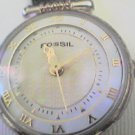 RARE UNIQUE ROMAN # FOSSIL LADIES QUARTZ WATCH RUNS