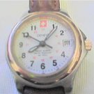 UNIQUE RARE SWISS GENEVA DATE QUARTZ LADIES WATCH 4UFIX