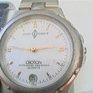 STYLISH ANDRE GIROUD BY CROTON DATE QUARTZ 3 ATM WATCH