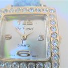 UNUSUAL DA VANCI SQUARE STONE LADIES QUARTZ WATCH