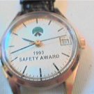 ladies 1993 safety award quartz date watch runs