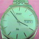 VINTAGE SEIKO DAY DATE QUARTZ WATCH RUNS SLOW 4U2FIX