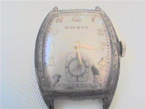 VINTAGE 15J BULOVA SQUARE WATCH RUNS