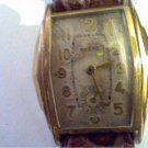 VINTAGE SQUARE ACCRO 7 JEWEL WATCH RUNS 4U2FIX DIAL