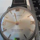 VINTAGE WOLDMAN SWISS ANTIMAGNETIC WINDUP WATCH RUNS