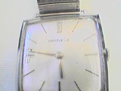 RARE VINTAGE 1964 CARAVELLE SQUARE WINDUP WATCH RUNS