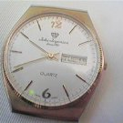 JULES JURGENSON DAY DATE JAPAN QUARTZ WATCH RUNS AND STOPS 4U2FIX STEM HANDS