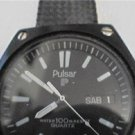 unusual black pulsar day date 100m quartz watch 4u2fix