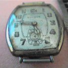 ART DECO 10A BULOVA SQUARE WATCH RUNS 4U2FIX HAND CASE