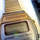 VINTAGE NELSONIC ALARM CHRONO LCD LADIES WATCH 4U2FIX