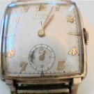 RARE VINTAGE ELGIN DELUXE SQUARE 15J WATCH RUNS
