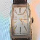 RARE 21 JEWEL VERY LONG SQUARE BULOVA WATCH RUNS