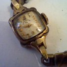 VINTAGE 14KT GOLD LADIES ELGIN COCKTAIL WATCH 4U2FIX