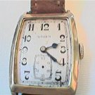 RARE SQUARE GRUEN ART DECO WATCH RUNS 4U2FIX